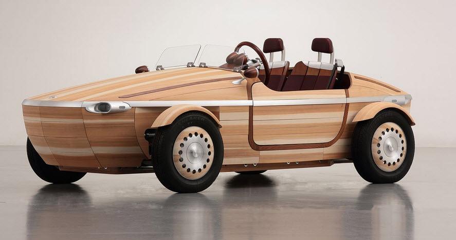 Toyota построила деревянный родстер без единого гвоздя