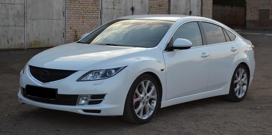 Фотоотчет по замене передних тормозных дисков на Mazda 6 2-го поколения