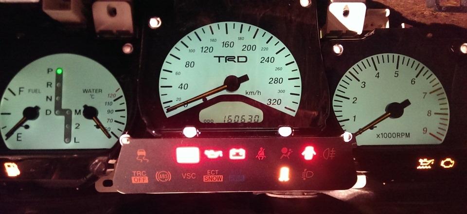 Ремонт стрелок приборной панели на Toyota Aristo jzs147, Soarer Jzz30: Фотоотчет