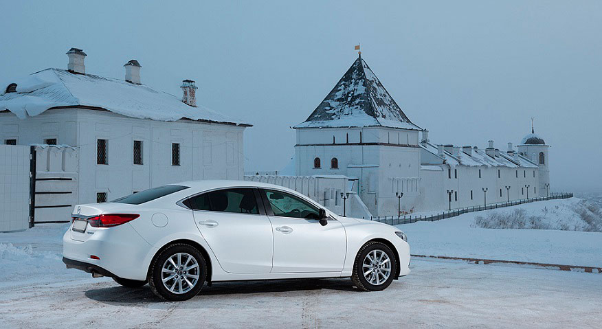 Mazda 6 зимнее фото