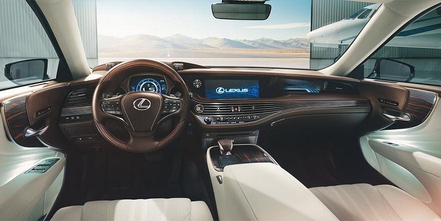 интерьер нового Lexus LS 2017
