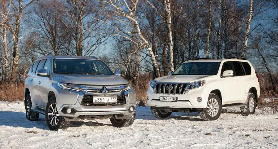 Тест-сравнение Mitsubishi Pajero Sport и Toyota Land Cruiser Prado