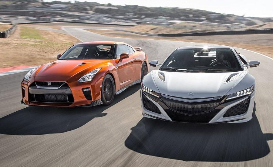 Сравнительный тест Nissan GT-R vs Honda NSX