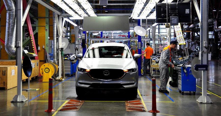 В столице Приморья приступили к изготовлению обновленной Mazda CX-5